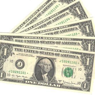 1 доллар США замещение* 1977 г. в UNC из пачки