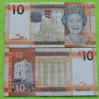 Джерси 10 фунтов 2010 UNC
