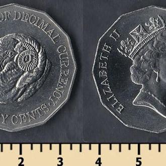 Австралия 50 центов 1991