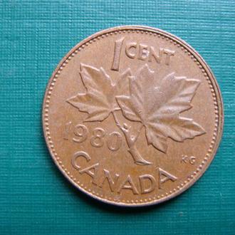 Канада 1 цент 1980