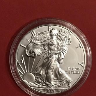 США Американский серебряный орёл 2019 ( Американський Орел - Свобода ) серебро 1 oz