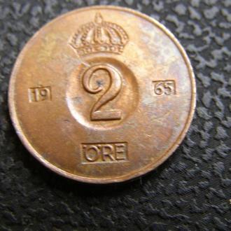 2 эре Швеция 1965 г