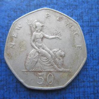 монета 50 пенсов Великобритания 1981
