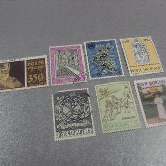 марки ватикан 1971 религия искусство живопись 1965 ягоды 1969 папа иоан павел 1978 лот 7 шт №27