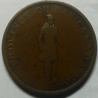 КАНАДА 1/2 пенни 1837 года