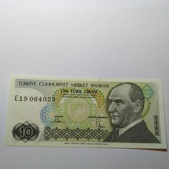 10 лир Турция, UNC, Пресс, лот 2