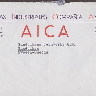 Венесуэла 1947 КЛАССИКА СТАНДАРТ ИСТОРИЯ ПОЧТЫ ПОЧТА ДОКУМЕНТ ПРОШЕДШИЙ ПОЧТУ КОНВЕРТ ПИСЬМО 3м