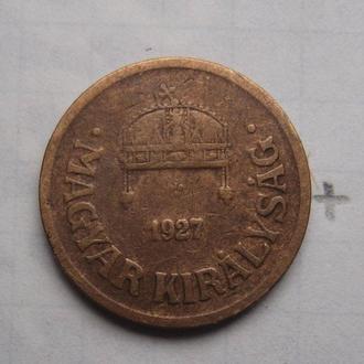 ВЕНГРИЯ, 2 филлера 1927 г.
