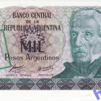 Аргентина 1 аустраль на 1000 песо 1985 Р320 UNC!!
