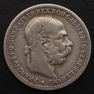 Австро-Венгрия 1 Корона, 1893, СЕРЕБРО! СОХРАН