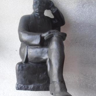 """Кабинетная скульптура """" В. И. Ленин в кресле с книгой"""".Смирнов.Мытищи.Редкий"""