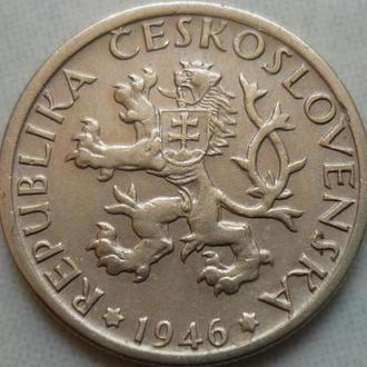 Чехословакия 1 крона 1946 состояние