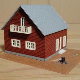 (1485) строение для макета в масштабе TT ~ H0 (1:87)