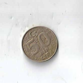 50000 лир Турция 1993 год