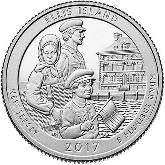 25 центов 39-й парк Нью-Джерси, парк Остров Эллис 2017 г.