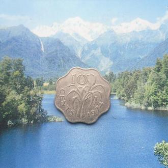 Свазиленд 10 центов 1974 года