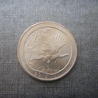 США 25 центов Национальный лес Kisatchie Р 2015