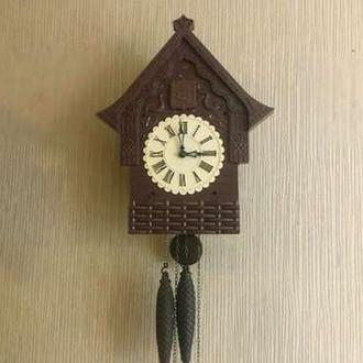 Часы ходики настенные механические с кукушкой с боем Маяк