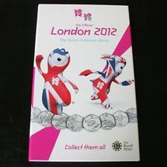 Полный набор из 29 50 пенсовых монет и медальон 2011/2012 Великобритания Олимпиада в Лондоне