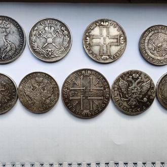 Монеты царской России, серебро, Рубли