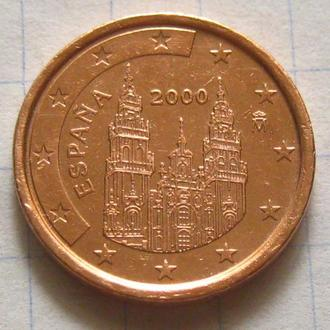 Испания_ 1 евро цент 2000  оригинал