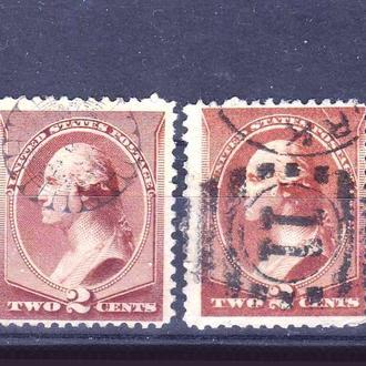 USA / США  --  1883 г - Вашингтон - 2е марки