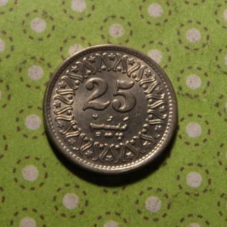 Пакистан 1994 год монета 25 пайсов !