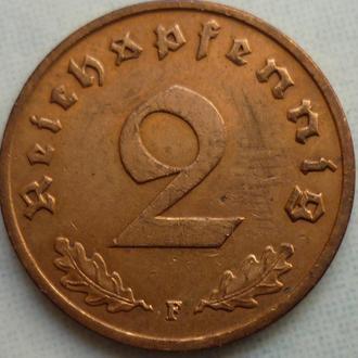 Германия 2 пфеннига 1938 F