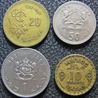Монеты Марокко 4 шт.
