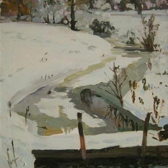 Річечка взимку. 45смх60см