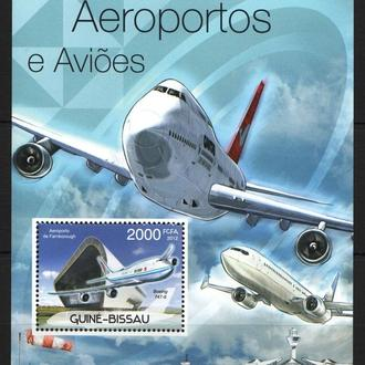 Гвинея-Бисау 2012 ** Авиация Самолеты Боинг АН А380 Аэропорты БЛ MNH