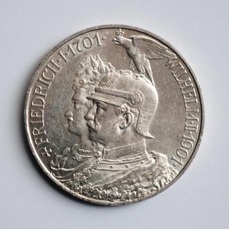 Пруссия 5 марок 1901 г., UNC, '200 лет Пруссии'