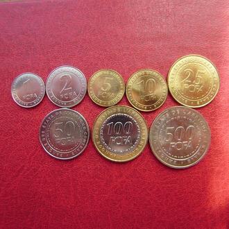 Центральная Африка набор монет 2006 от 1 до 500 франков UNC