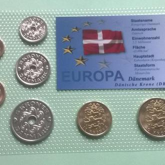 Набор монет ДАНИЯ ( 7 монет ) блистер запайка пластик
