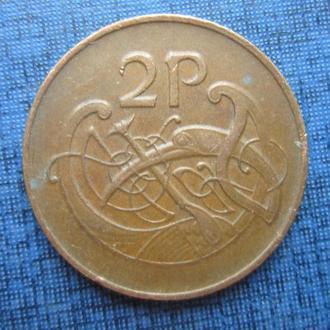 монета 2 пенса Ирландия 1980 фауна птица