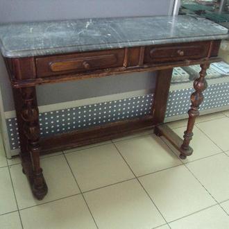 стол пристенный столик антикварный дерево