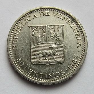 Венесуэла 50 сентимо 1965 (KM#41)