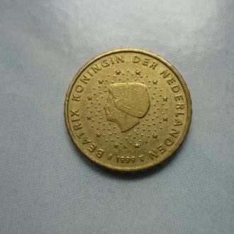 Нидерланды 10 евроцентов 1999