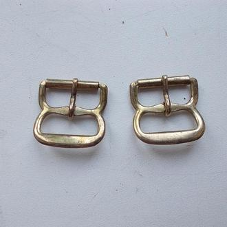 Пряжки желтый металл под золото, 2 штуки =1 лот