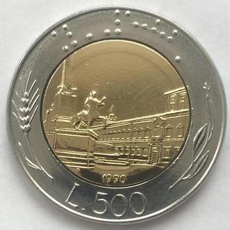 500 лир Италия, 1990 год