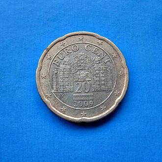 АВСТРИЯ монета 20 евроцентов 2009 год