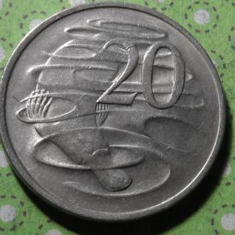 Австралия 1974 год монета 20 центов !