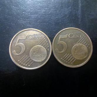 5 евроцентов (2002) Италия.