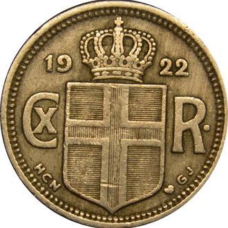 Ісландія 25 Aurar 1922   A225