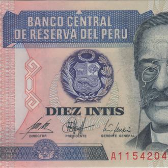 Перу 10 инти 1987г. в UNC из пачки