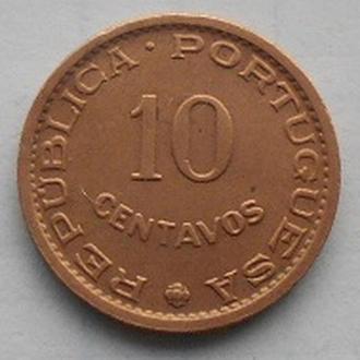 Мозамбик 10 сентаво 1960 год.