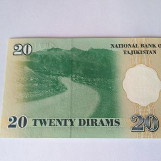 20 дирам 1999 Таджикистан, Пресс unc оригинал