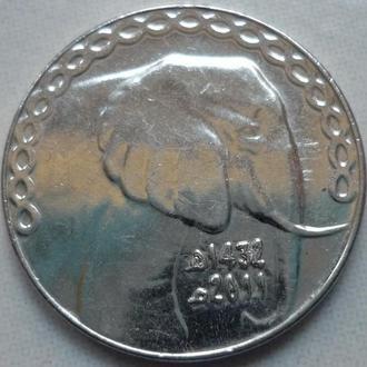 Алжир 5 динаров 2011 фауна