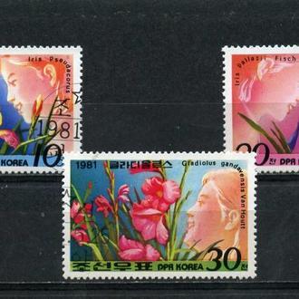 КОРЕЯ, Цветы 1981 год *. гашенные.