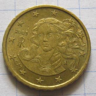 Италия_ 10 евро центов 2003 года  оригинал